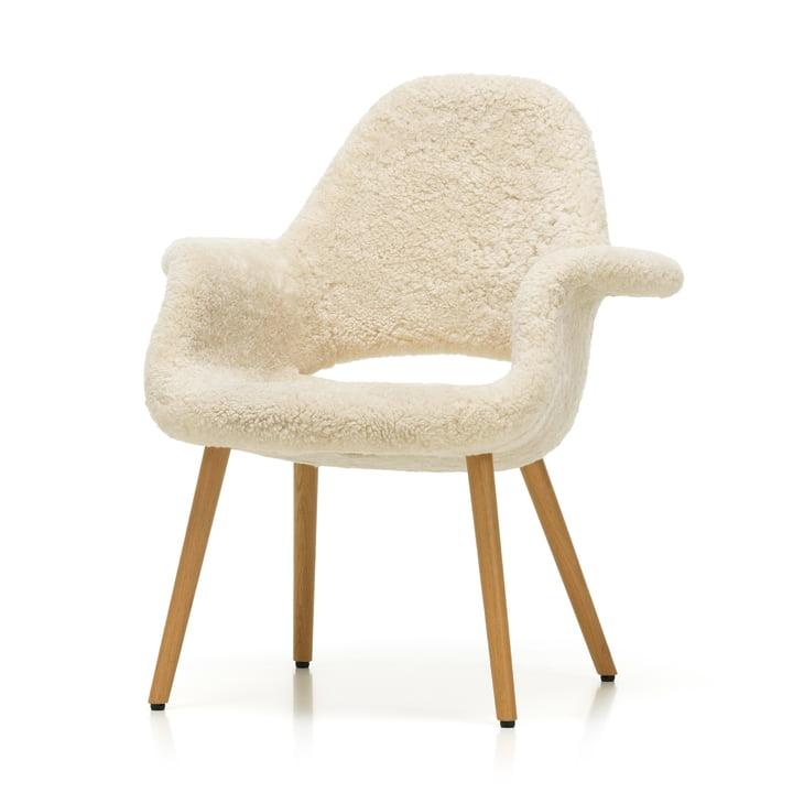 Chaise bio Vitra en chêne naturel / Peau de mouton (Edition limitée)