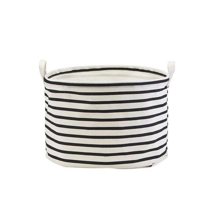 Panier de rangement Stripes Ø 40 x H 25 cm par House Doctor en noir / blanc