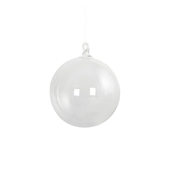 Boule d'arbre de Noël en verre Ø 8 cm par House Doctor en clair