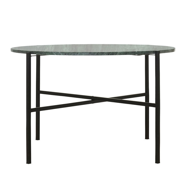 La table basse verte Ø 70 x H 45 cm par House Doctor en marbre vert marbre