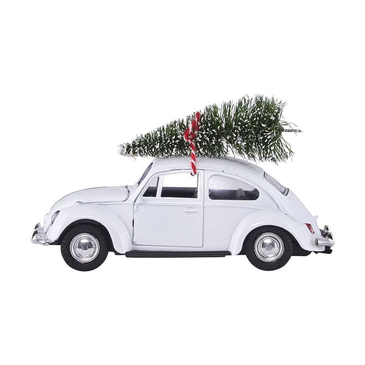 Xmas Cars Deco Cars 12,5 cm par House Doctor en blanc