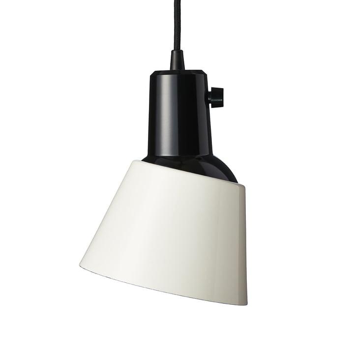 K831 Luminaire suspendu de Midgard en blanc perle (plomb noir)