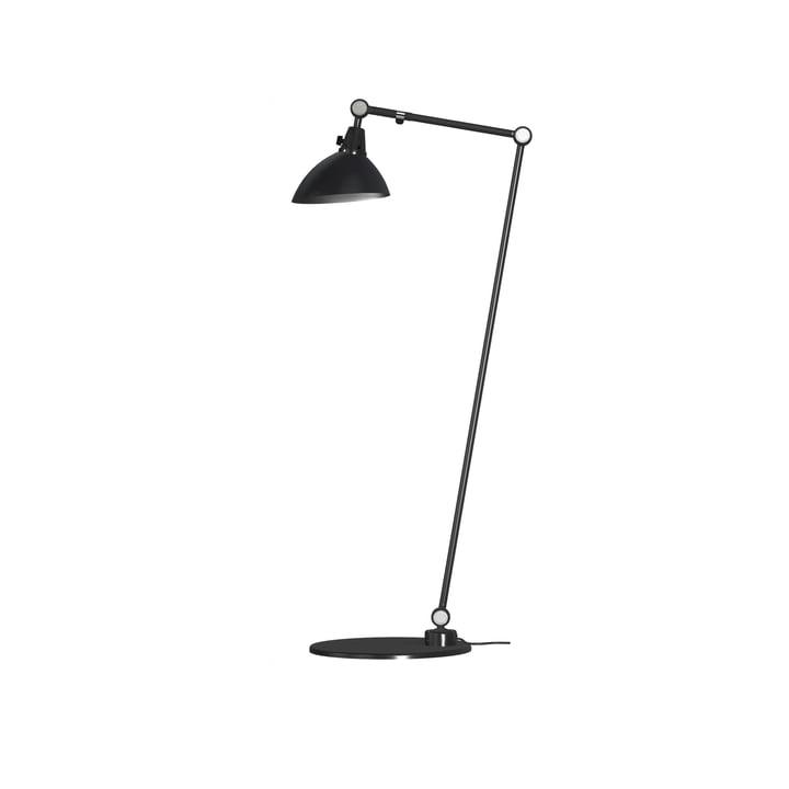 Lampadaire modulaire 556 Midgard 100/30 cm en noir avec culot à charnières en aluminium