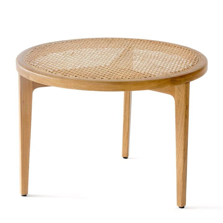 Table basse Le Roi Ø 60 x H 42 cm de Norr11 en chêne nature