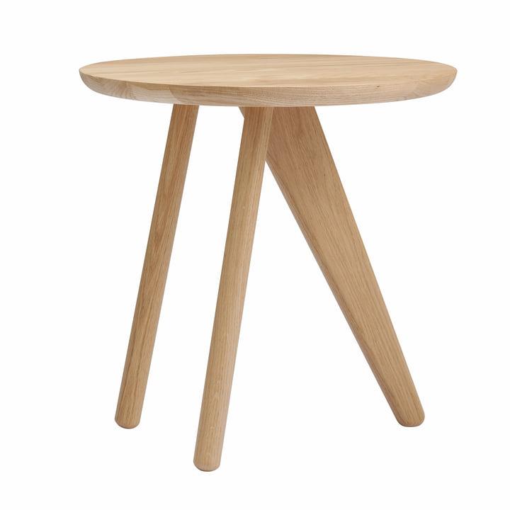 Table d'appoint à ailettes Ø 40 x H 40 cm de Norr11 en chêne nature