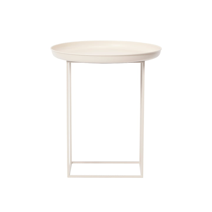 Table d'appoint Duke Ø 45 x H 52 cm de Norr11 en blanc antique