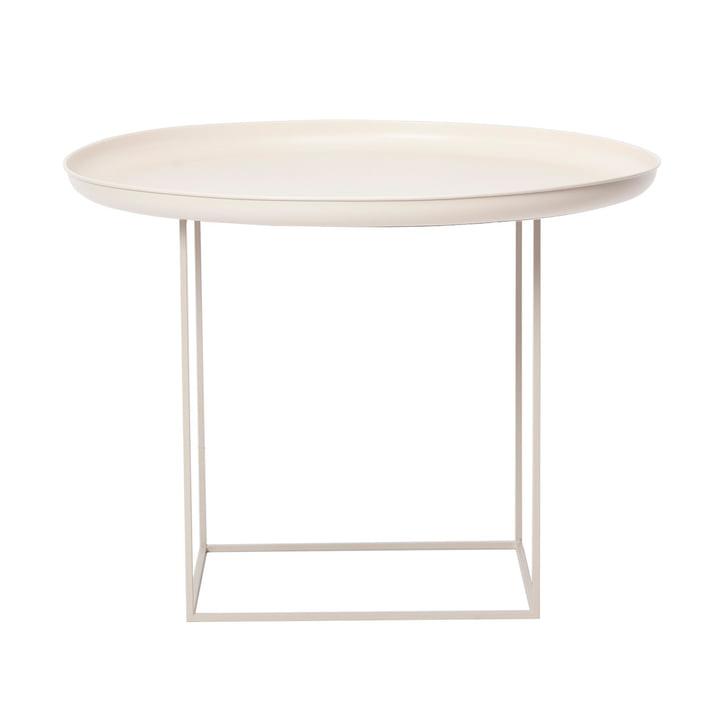 Table basse Duke medium Ø 70 x H 45 cm de Norr11 en blanc antique