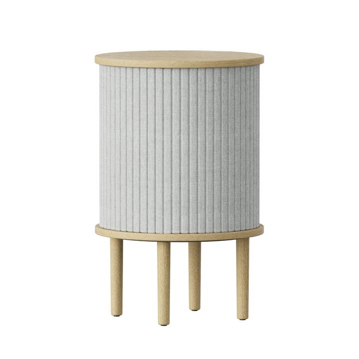 Audacious Table d'appoint avec connexion USB Ø 38 x H 5 9. 3 cm de Umage en chêne naturel / silver grey