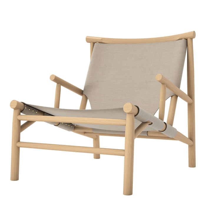 Chaise Samurai Lounge Chair by Norr11 en chêne naturel / toile