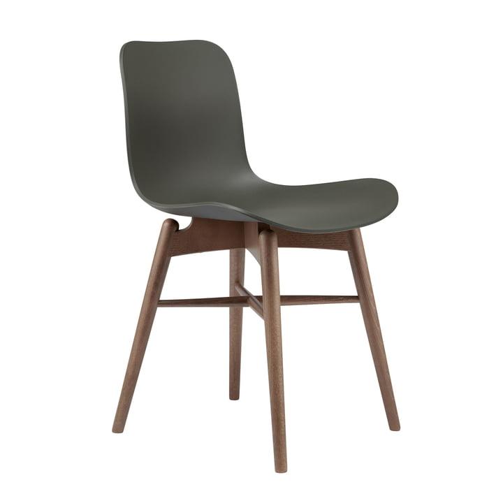 Langue Original chaise Norr11 en hêtre fumé / vert armée