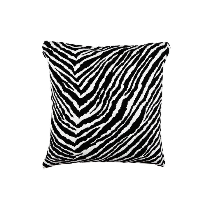 Housse de coussin zébré 40 x 40 cm d'Artek en noir / blanc
