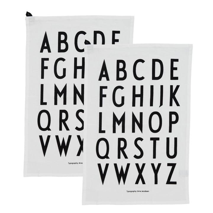 Torchon classique par Design Letters en blanc (set de 2)