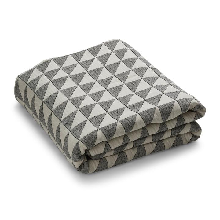 Couvre-lit à facettes, beige / noir par Georg Jensen Damask