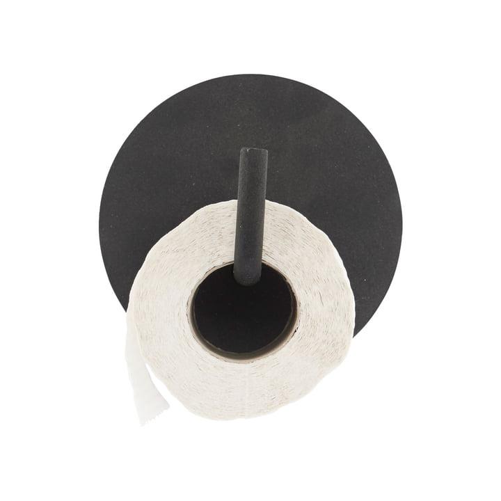 Porte-papier hygiénique texte, noir par House Doctor