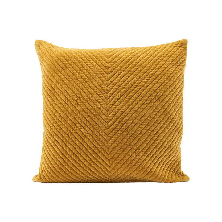 Housse de coussin en velours Velv, 50 x 50 cm, curry par House Doctor