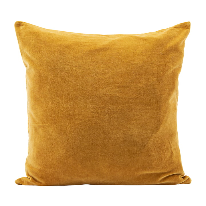Housse de coussin en velours Velv, 60 x 60 cm, curry par House Doctor
