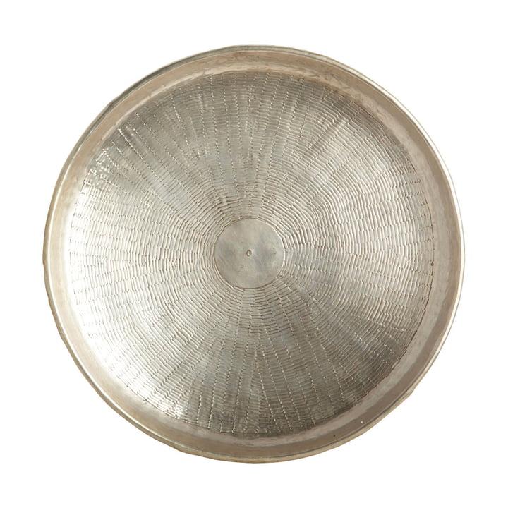 Plateau à découper, Ø 38 x H 5 cm, laiton / argent par House Doctor