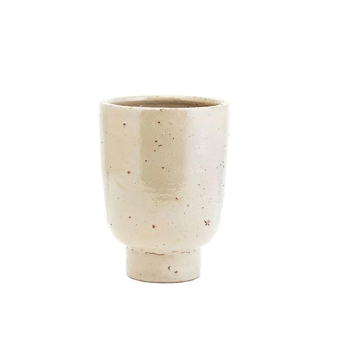 Pot de fleur artiste, Ø 15 x H 22 cm, beige par House Doctor