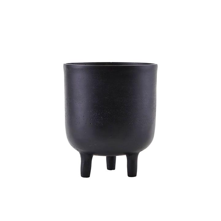 Pot de fleurs Jang, Ø 15 x H 18 cm, noir par House Doctor