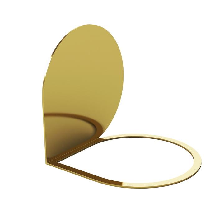 Stilla serre-livre 14 x 14 cm à partir de AYTM en or
