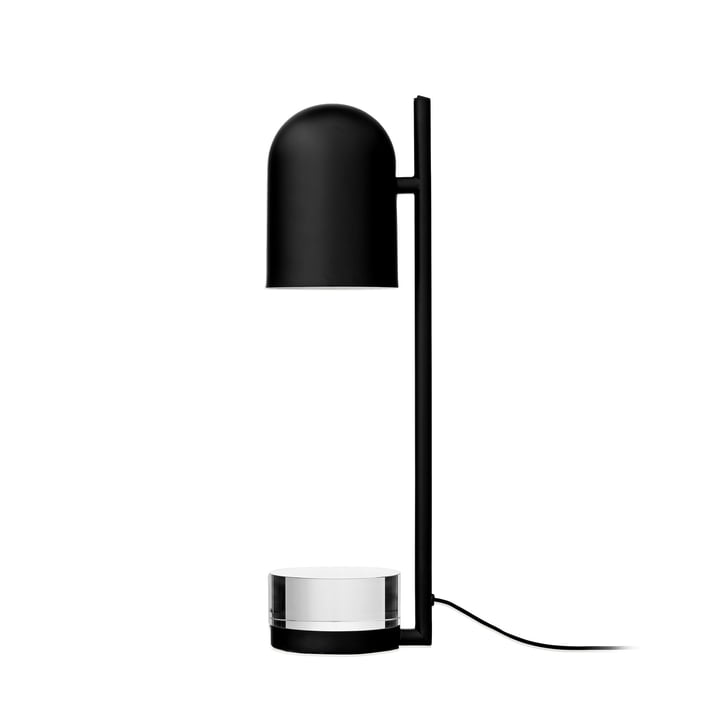 Lampe de table Luceo, Ø 12 x H 50 cm, noir / transparent par AYTM
