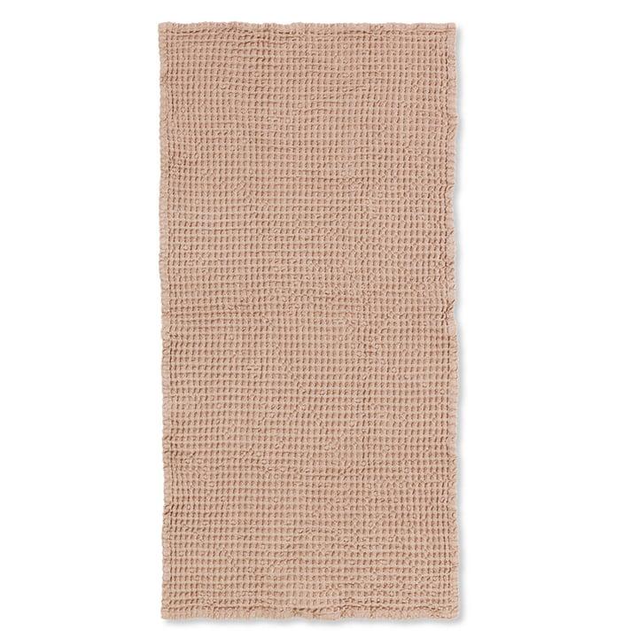 Serviette de bain biologique 140 x 70 cm de Ferm Living in old pink