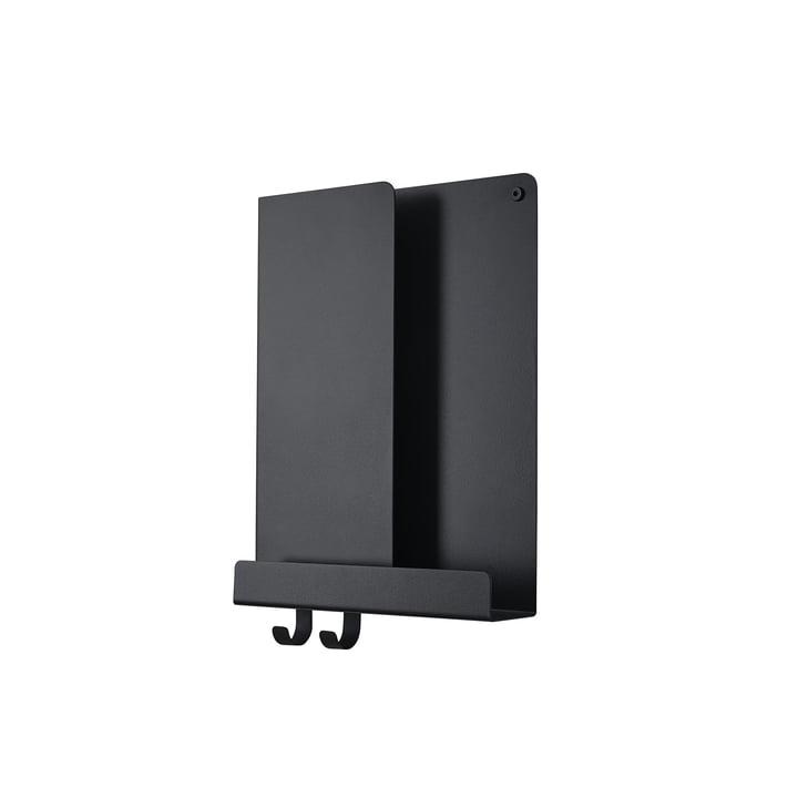 Tablettes pliées 2 9. 5 x 40 cm de Muuto en noir