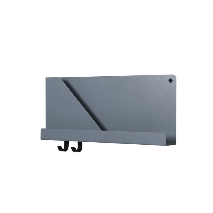 Étagères pliées 51 x 22 cm de Muuto en bleu-gris