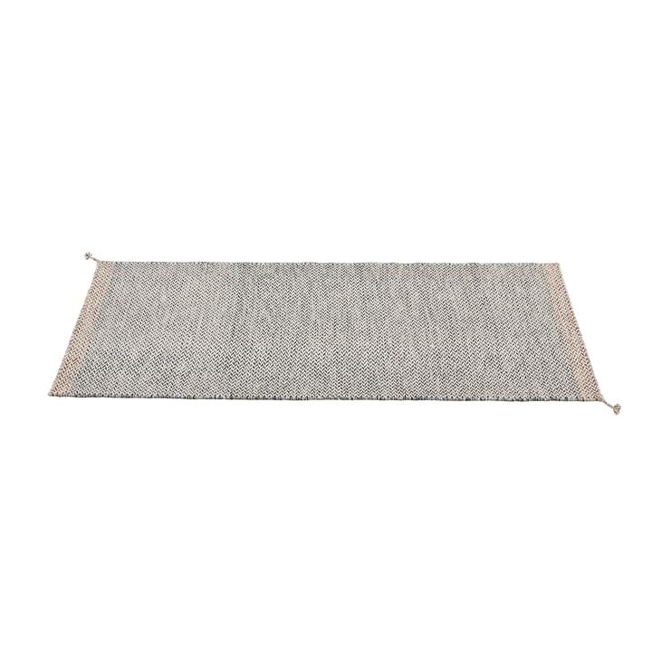 Tapis à plis 80 x 200 cm de Muuto en noir et blanc