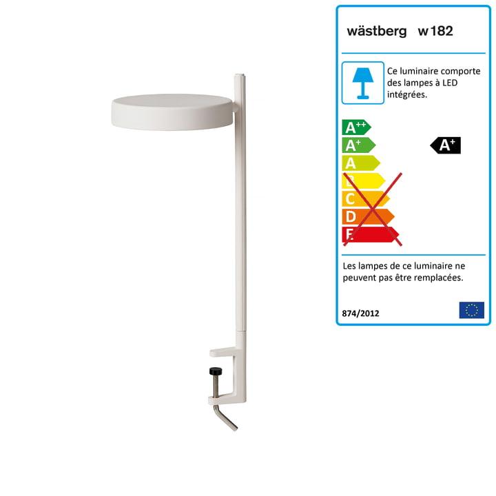 w182 Pastille LED clamp light c2 de Wästberg en blanc doux