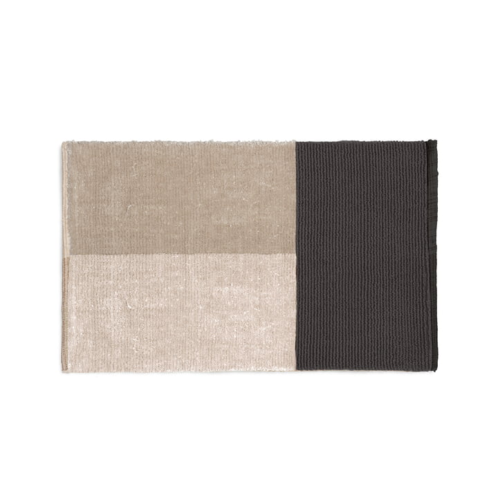 Tapis de bain en velours 80 x 50 cm de ferm Living in grey