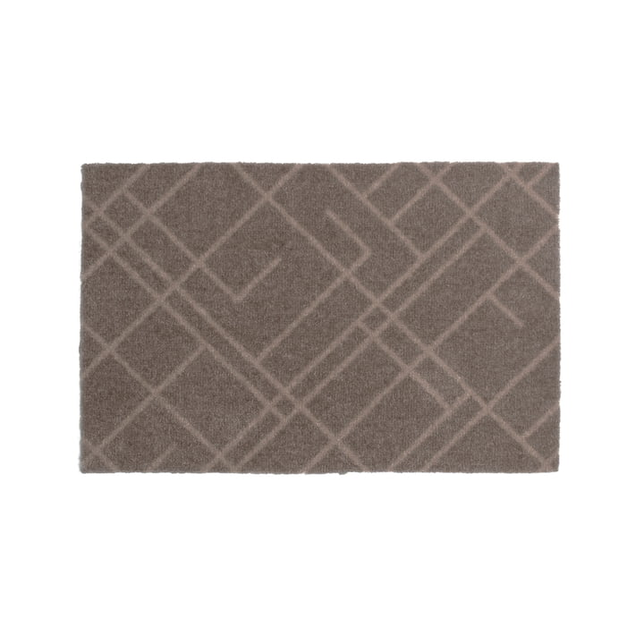 Paillasson de lignes 40 x 60 cm de tica copenhagen en sable / beige