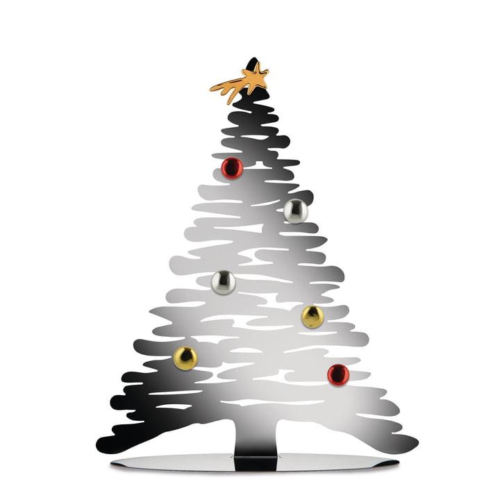 Ecorce pour Noël H 30 cm d'Alessi en argent