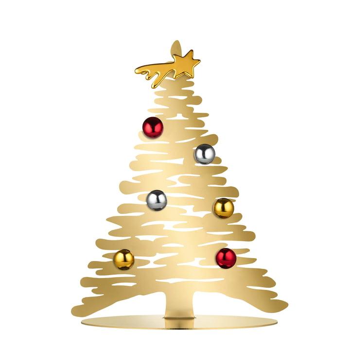 Ecorce pour Noël H 30 cm d'Alessi en or