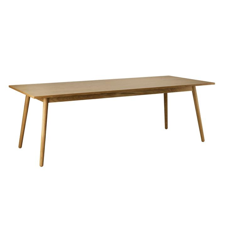 C35C Table de repas, 95 x 220 cm, chêne laqué mat par FDB Møbler