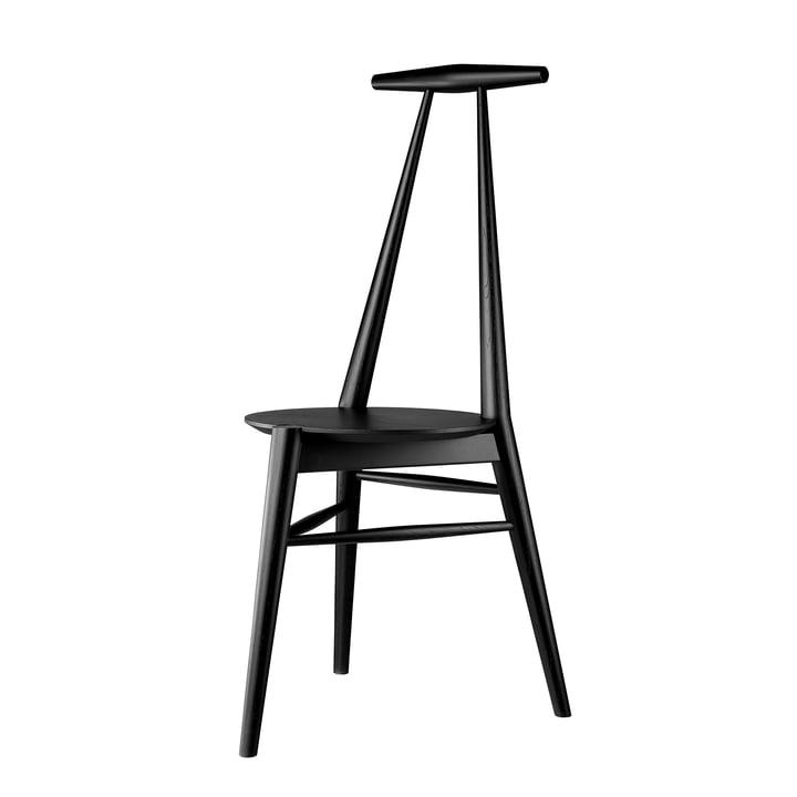 J157 Chaise d'ancrage, chêne laqué noir par FDB Møbler