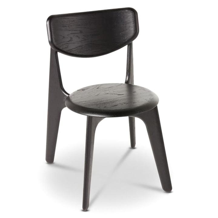 Chaise d'appoint Slab Side Chair de Tom Dixon en chêne noir