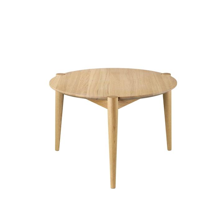 D102 Table basse Søs Ø 55 cm de FDB Møbler en chêne laqué clair
