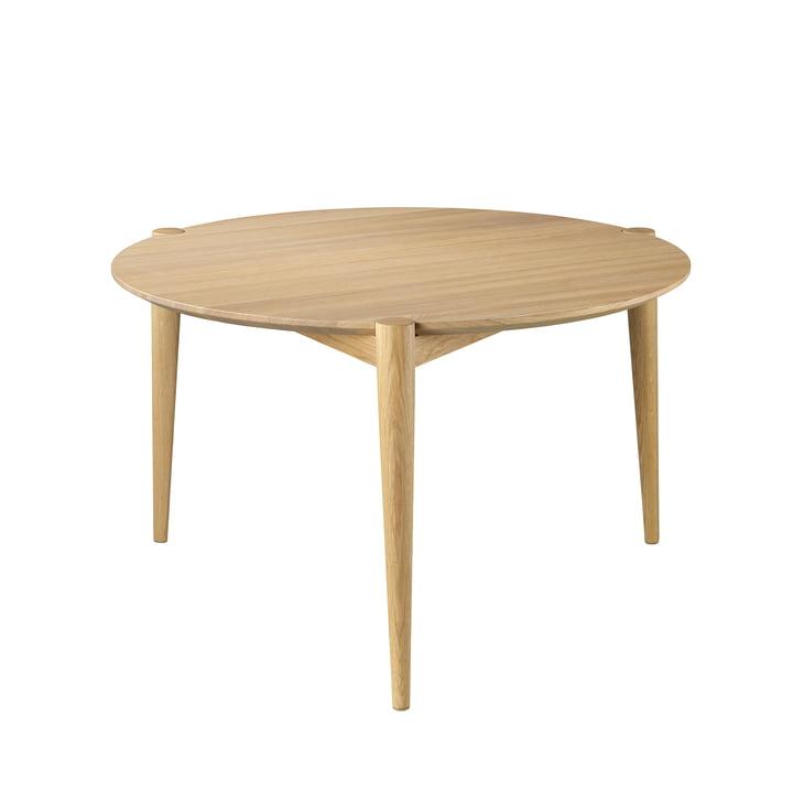D102 Table basse Søs Ø 70 cm de FDB Møbler en chêne laqué clair