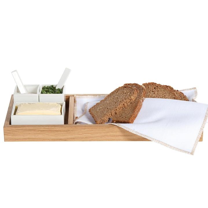 Pain, beurre &, sel, chêne / blanc de décoration d'intérieur