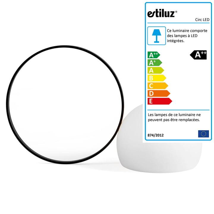 Circ LED M-3727 de la société Estiluz en noir