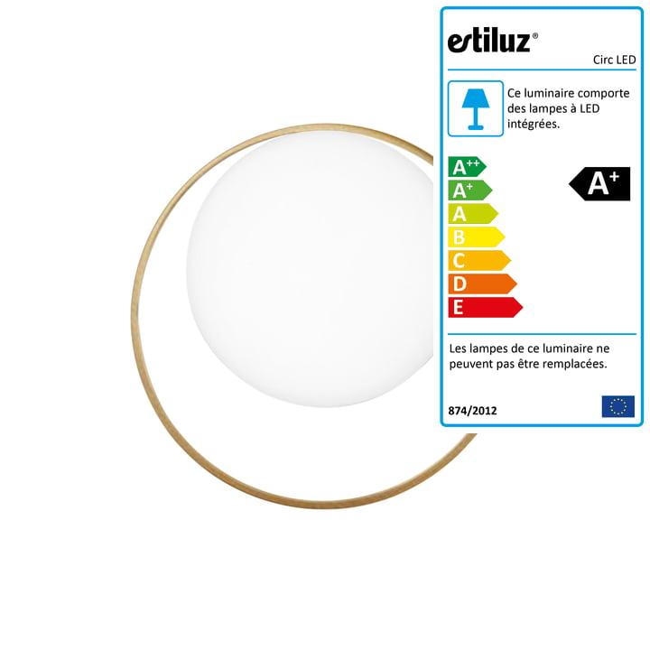 Applique Circ LED Estiluz en or