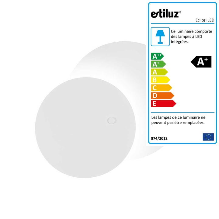 Eclipsi Applique murale et plafonnier Eclipsi LED Ø 50 cm de Estiluz en blanc