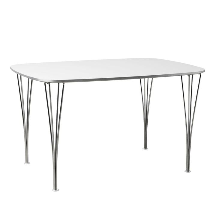 FH125 table 125 x 90 cm par Fritz Hansen en chrome / blanc