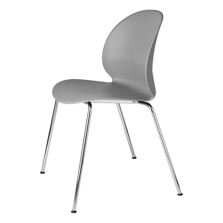 N02 Chaise de recyclage Fritz Hansen en chrome / gris