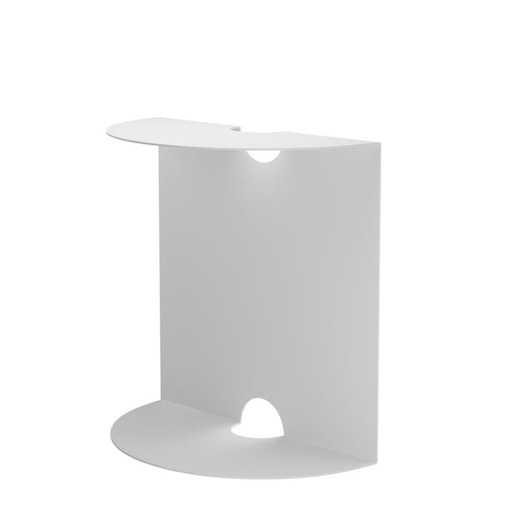 Table d'appoint Weber d'objets de nos jours en blanc