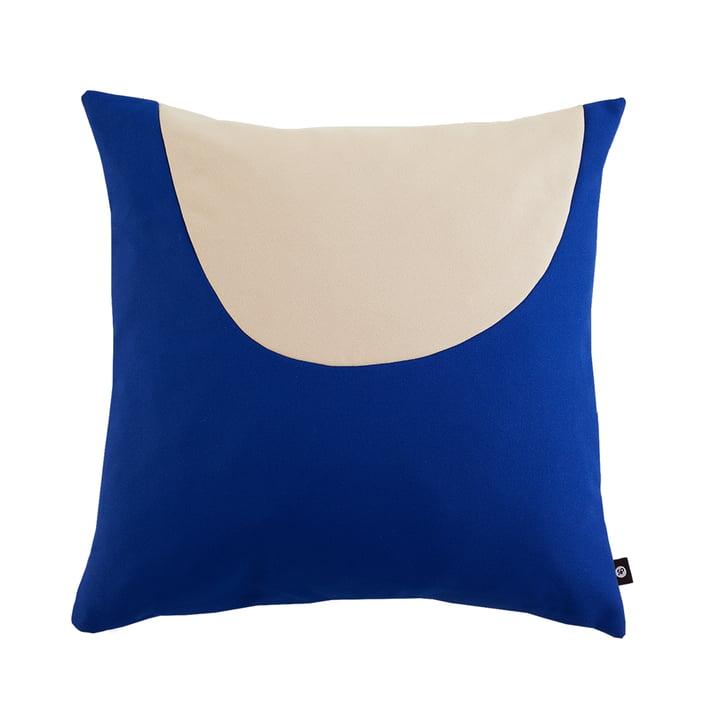 Oreiller Waseki XLarge 80 x 80 cm d'objets de nos jours en bleu royal / beige