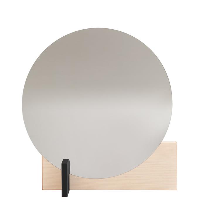 Miroir Hoffmann d'objets de notre époque cirés en frêne / noir