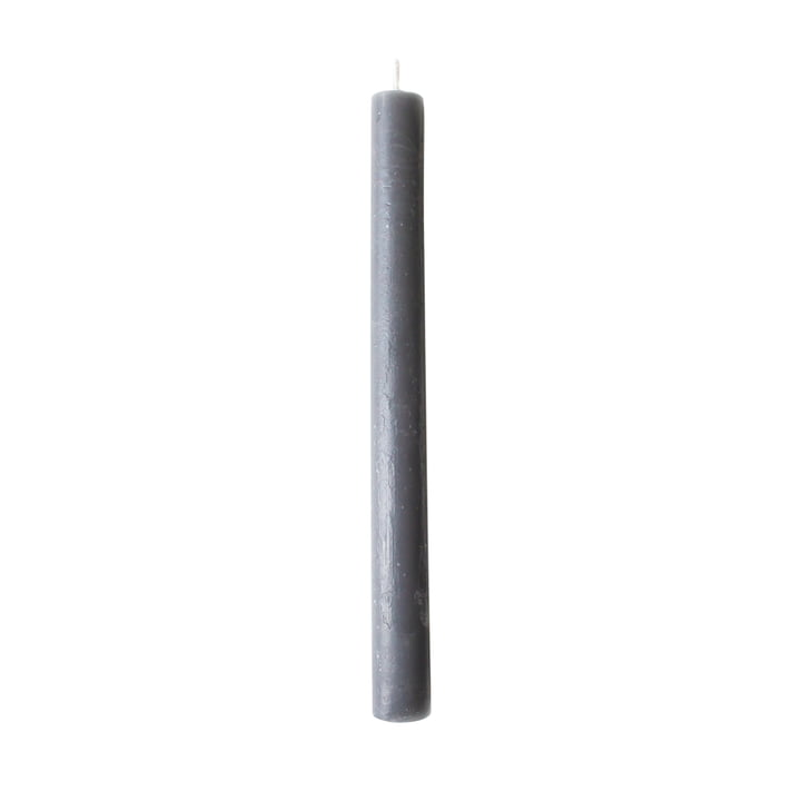 2. Bougie bâton de 2 cm en gris foncé