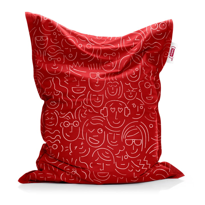 Beanbag Original de Fatboy en rouge (Let's-face-it / Special Edition)